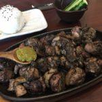宮崎県ぐんけい隠蔵で地頭鶏もも焼きを食う